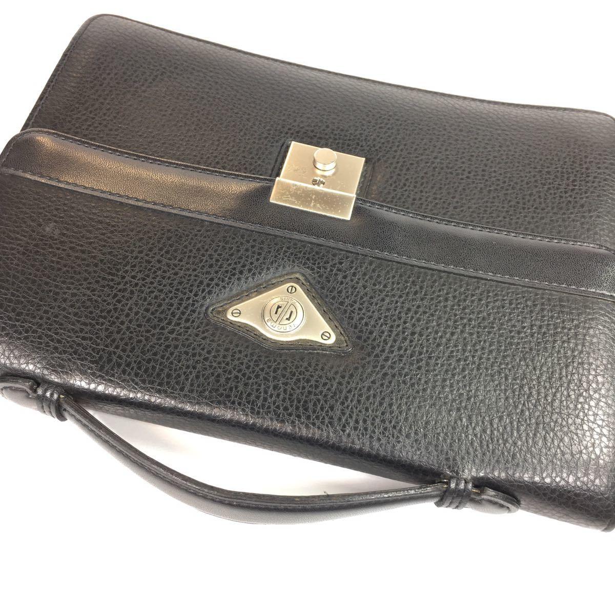 【レノマ】本物 renoma セカンドバッグ 黒 ミニビジネスバッグ 持ち手有り 男性用 メンズ_画像4