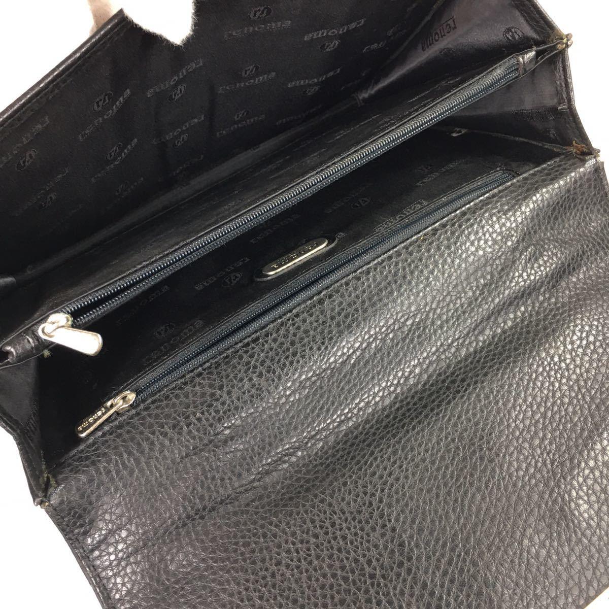 【レノマ】本物 renoma セカンドバッグ 黒 ミニビジネスバッグ 持ち手有り 男性用 メンズ_画像8