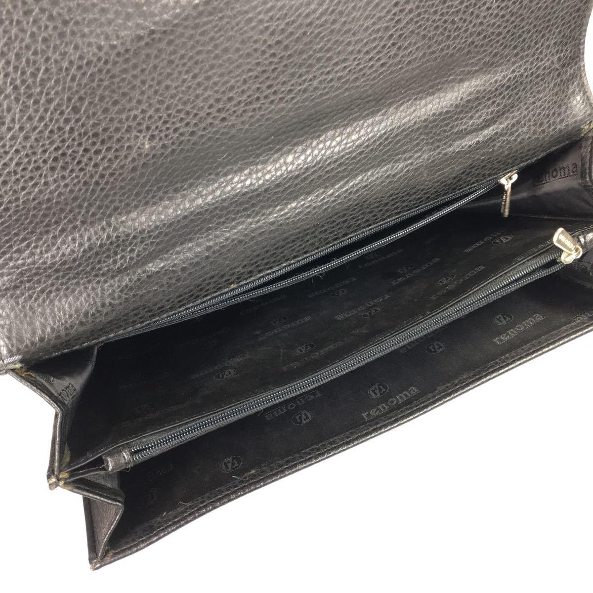 【レノマ】本物 renoma セカンドバッグ 黒 ミニビジネスバッグ 持ち手有り 男性用 メンズ_画像9
