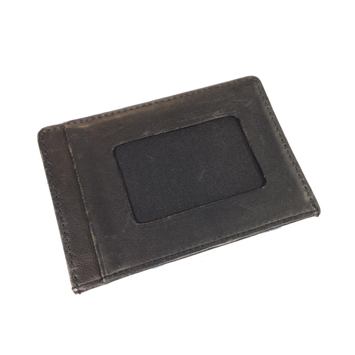 【ポールスミス】本物 Paul Smith カードケース 黒×花柄 名刺入れ パスケース 定期入れ 本革 レザー メンズ レディース 送料250円_画像4