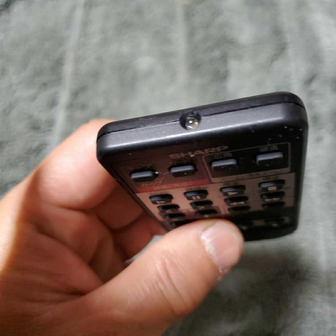 シャープ 液晶ビデオカメラ用リモコン 中古品 (型番 G0103TA) 新品電池交換済み 正常動作確認済み _画像3