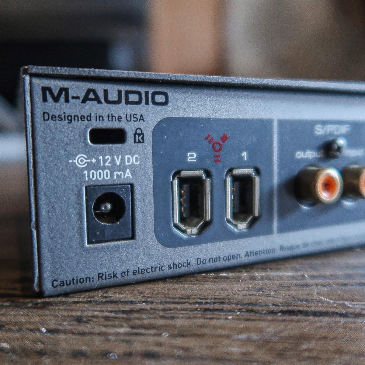 -ジャンク- M-AUDIO FireWire Solo エムオーディオ オーディオインターフェイス -GRUN SOUND-u643-_画像3
