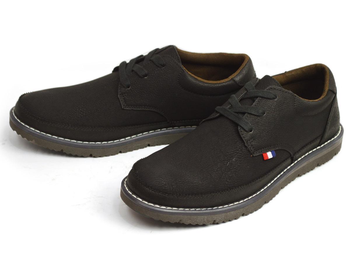 新品■25cm 軽量 メンズ カジュアルシューズ 紐靴 スニーカー コンフォートシューズ 通気性 メッシュ レースアップ 紳士靴【エコ配送】_画像1