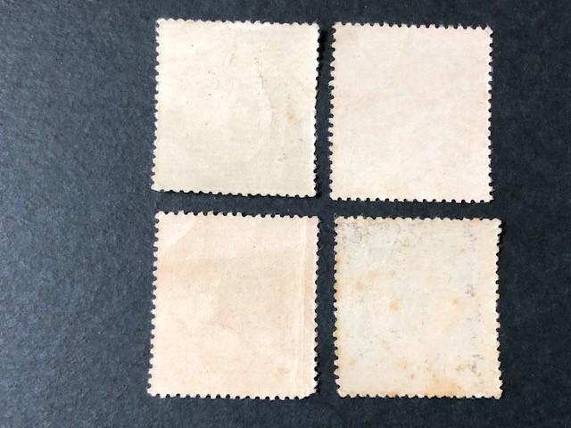 戦前記念切手 赤十字条約75年 2銭、4銭、10銭、20銭 4種完揃 未使用 NH_画像2