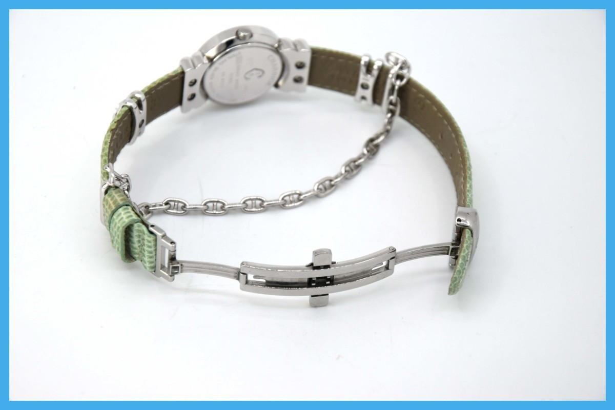 質屋 シャリオール サントロペ SV925 シェル文字盤 ダイヤベゼル Charriol レディース クォーツ 腕時計 みいち質店_画像6