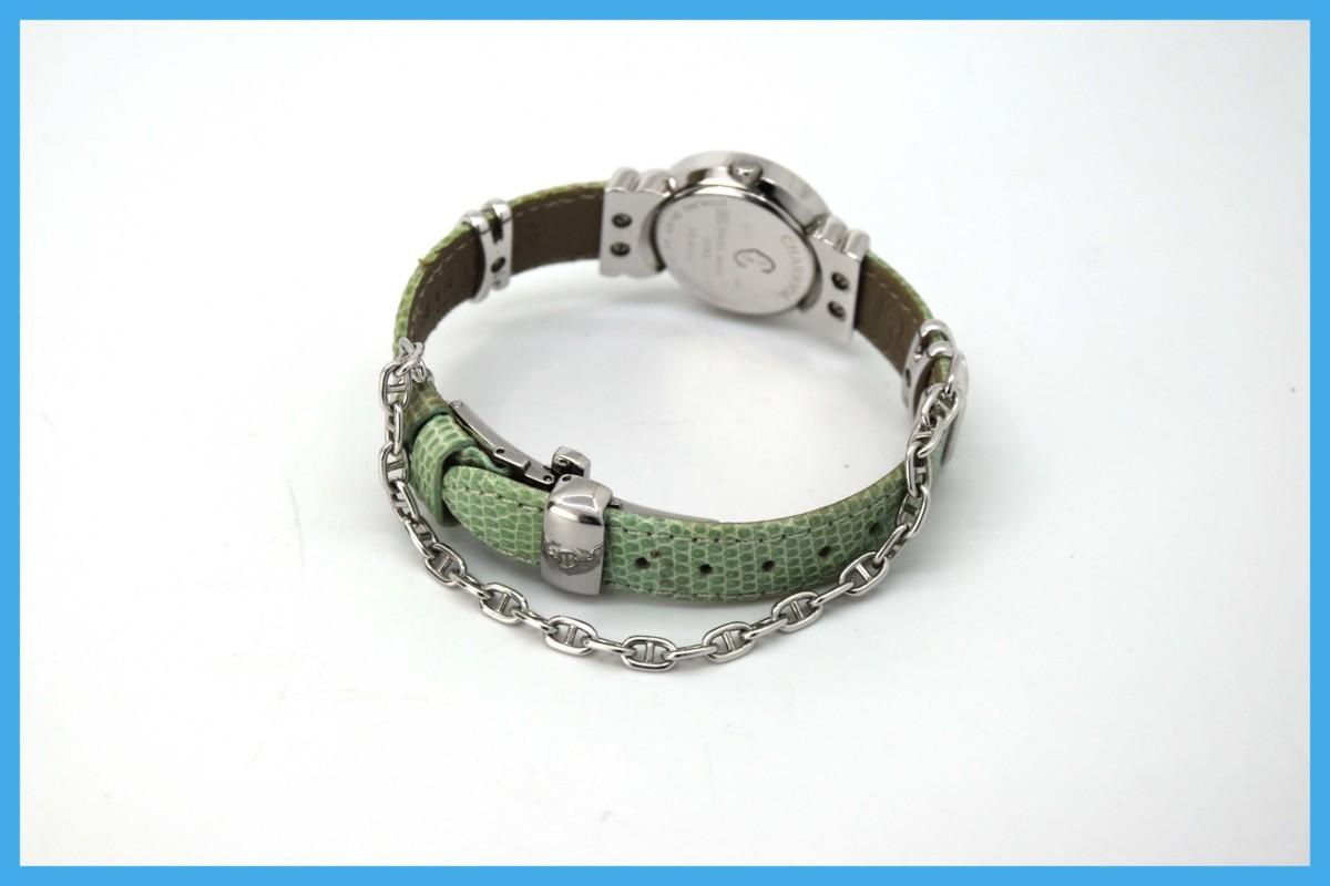 質屋 シャリオール サントロペ SV925 シェル文字盤 ダイヤベゼル Charriol レディース クォーツ 腕時計 みいち質店_画像5