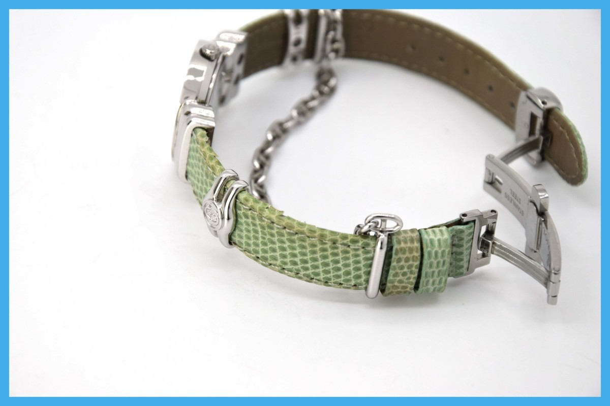 質屋 シャリオール サントロペ SV925 シェル文字盤 ダイヤベゼル Charriol レディース クォーツ 腕時計 みいち質店_画像9