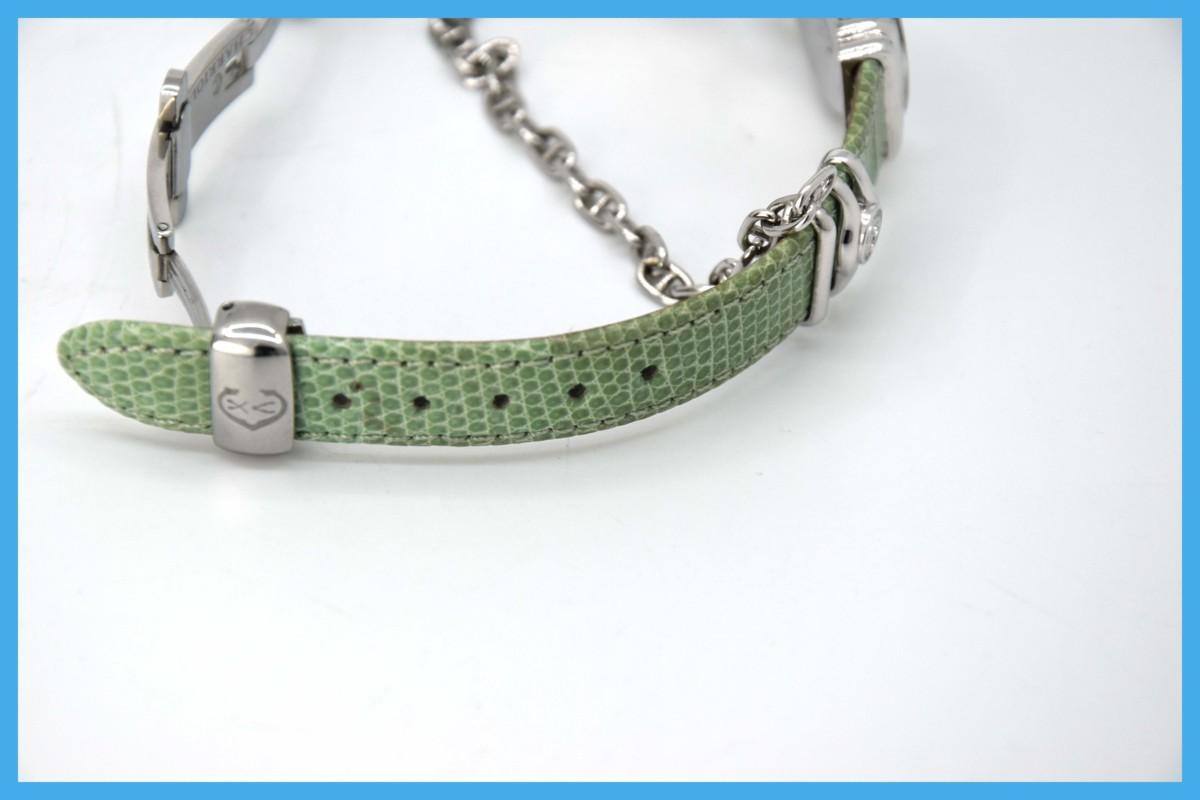 質屋 シャリオール サントロペ SV925 シェル文字盤 ダイヤベゼル Charriol レディース クォーツ 腕時計 みいち質店_画像10