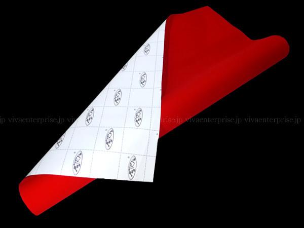 アルカンターラ調 スエードシート 赤 カッティングシート 135×100cm~ 切売 裏溝 糊付/23_画像3