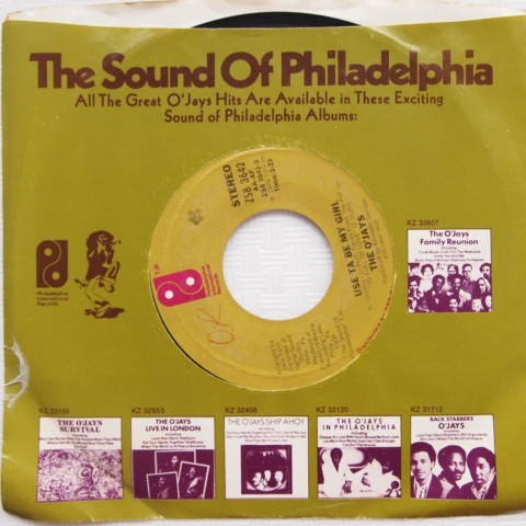 【US盤ソウルEP】The O'Jays / Use Ta Be My Girl / This Time Baby(PHILADELPHIA INTL.)ZS8 3642 1978年_画像1