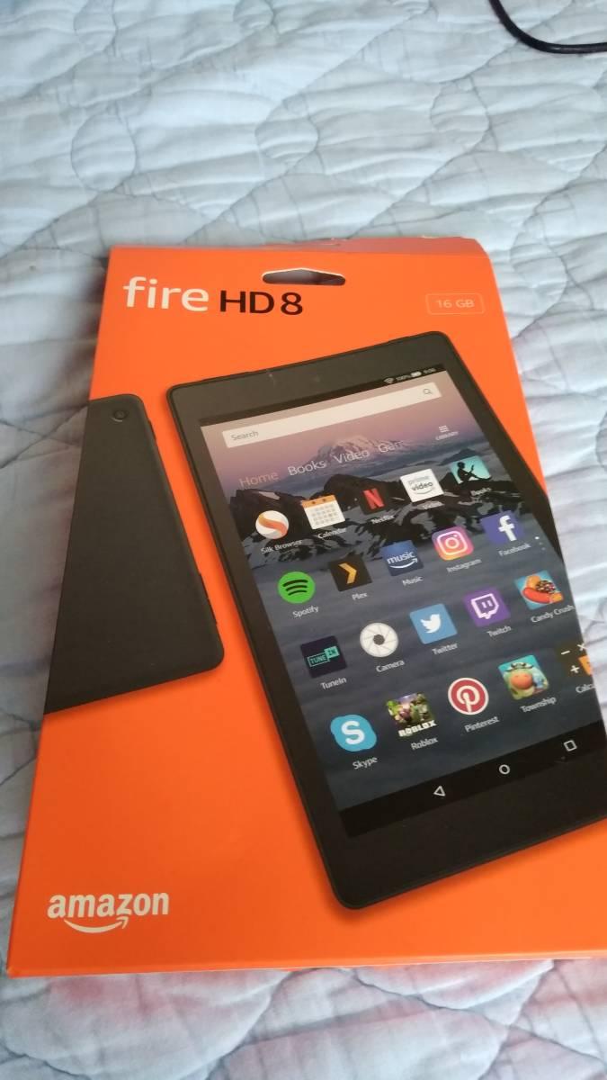 【中古品 付属品完備】Fire HD 8 タブレット (8インチHDディスプレイ) 16GB - Alexa搭載_箱 表