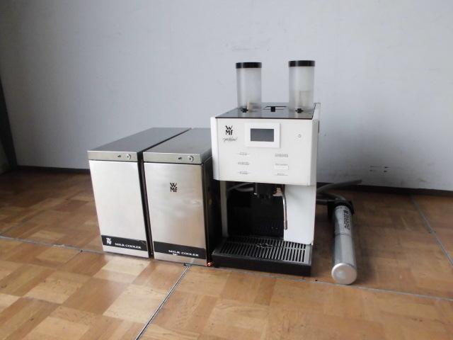 中古厨房 WMF 業務用 コーヒーマシン prestolino 単相200V ミルククーラー×2個 浄水器おまけ付 カフェ エスプレッソ ラテ_画像1