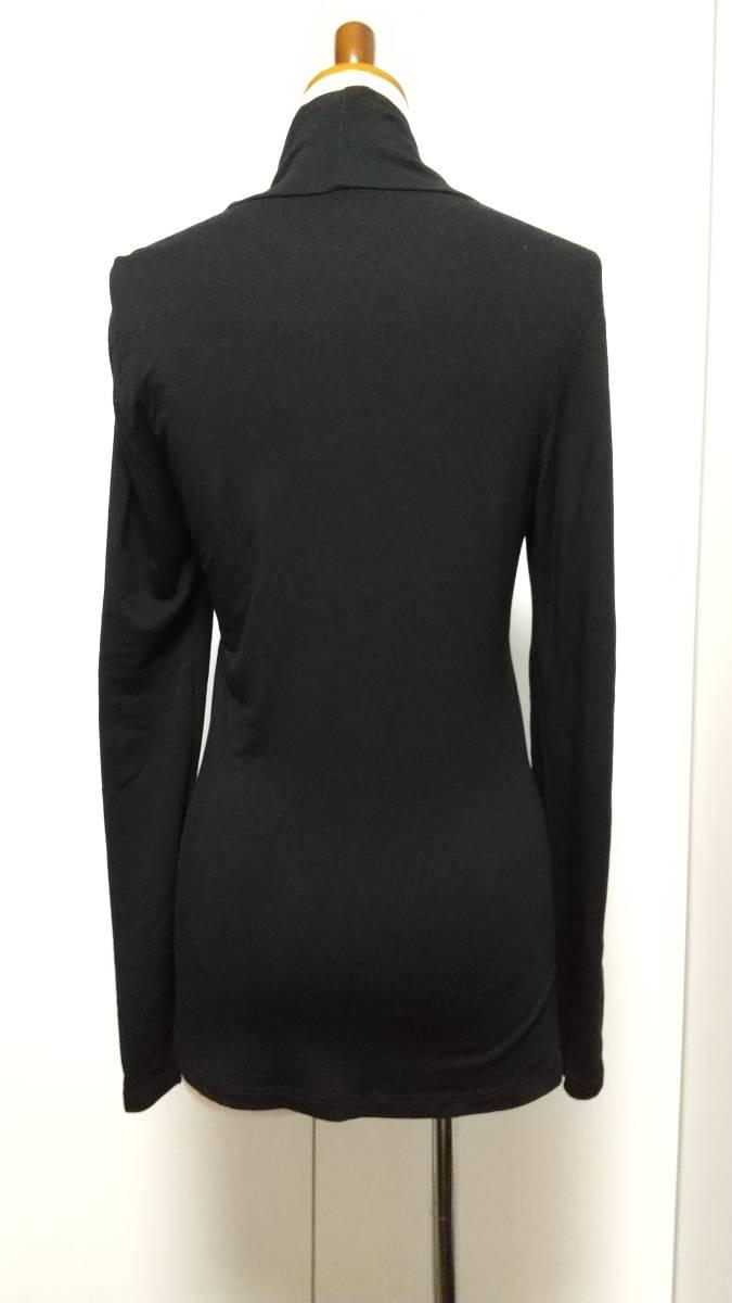 ユニクロ UNIQLO ヒートテック エクストラウォーム カットソー タートルネック 長袖 黒 ブラック レディース 女性用 Sサイズ