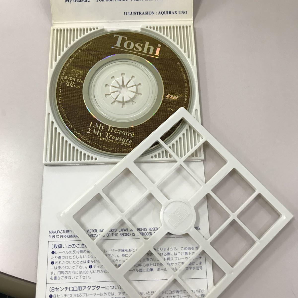 シングルCD 8センチ 中古【邦楽】長期保存品 TOSHI MY TREASURE