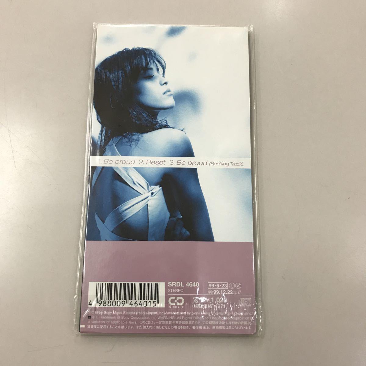 シングルCD 8センチ 中古【邦楽】長期保存品 知念里奈 Be proud