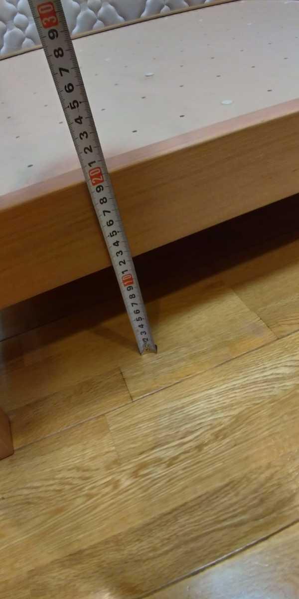 旭川家具 シングルベッド 2台セット カンディハウス 直接引き取り限定 USED マットレス付き_画像4