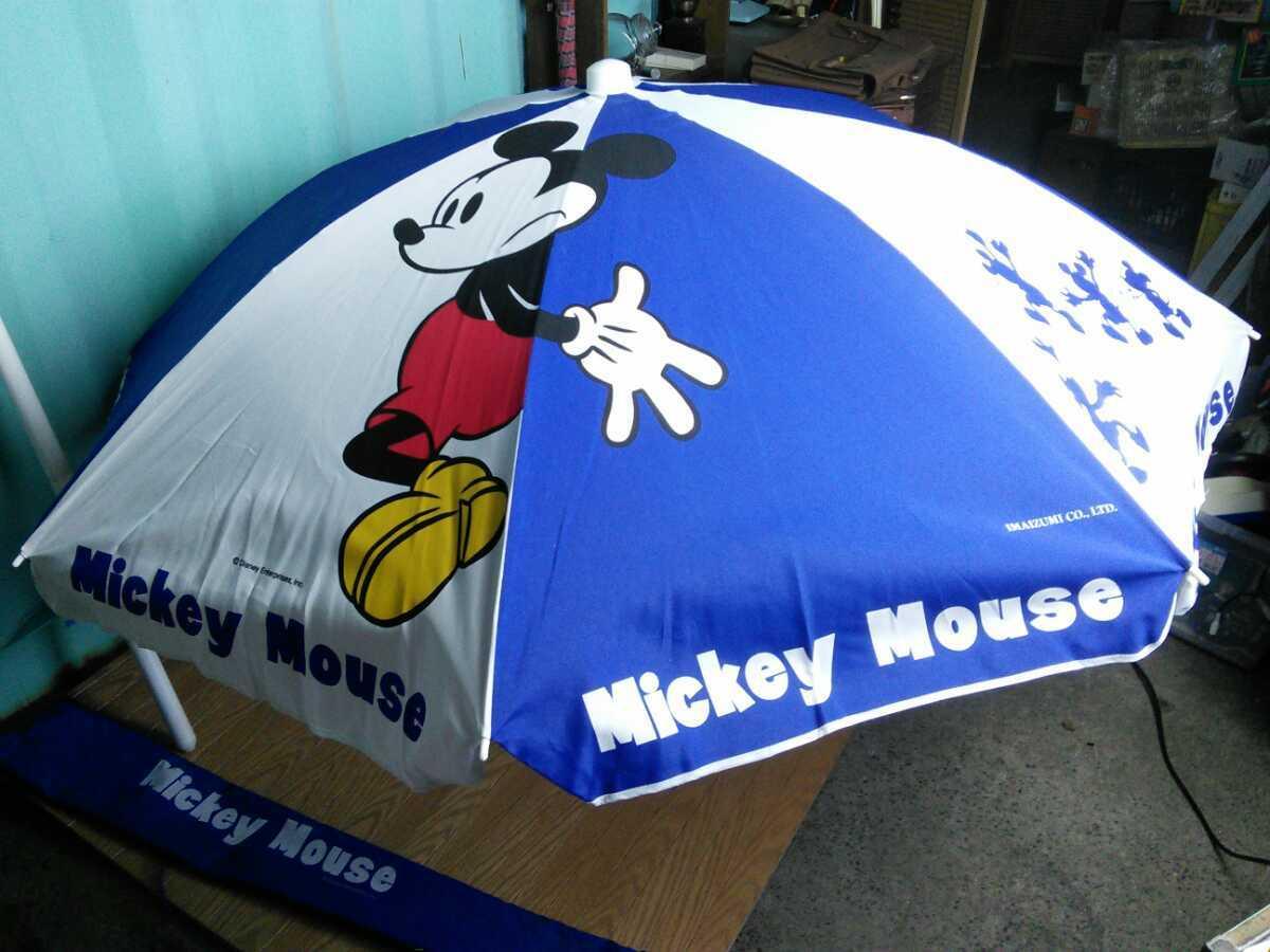 513k 中古 ディズニー ミッキーマウス ビーチパラソル 直径約180cm 高さ約210cm レジャー アウトドア 海岸 河川敷 Disney Mickey Mouse