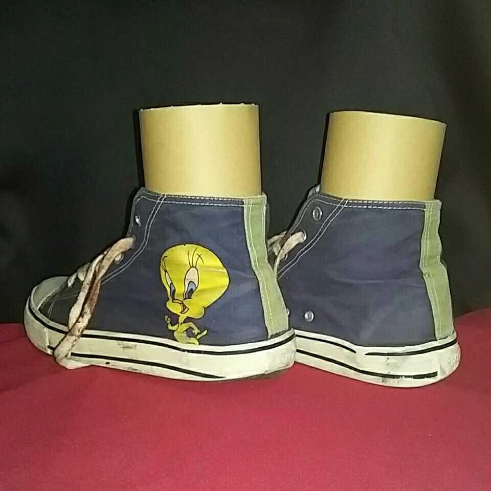 Tweety トゥイーティー LOONEY TUNES ルーニー テューンズ ハイカットスニーカー 表記 10 アウトソール約28cm シューズ スニーカー 靴 _画像6