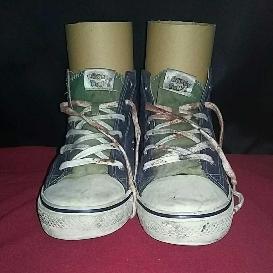 Tweety トゥイーティー LOONEY TUNES ルーニー テューンズ ハイカットスニーカー 表記 10 アウトソール約28cm シューズ スニーカー 靴 _画像2