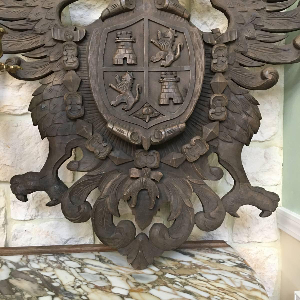 フランスアンティーク イーグル オブジェ 壁掛け 木製 ウッドオブジェ アンティーク家具 アンティーク ヨーロッパ 重厚_画像5