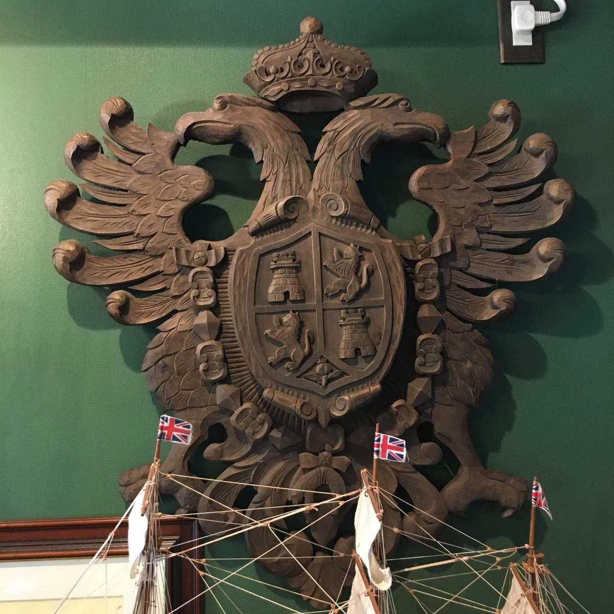フランスアンティーク イーグル オブジェ 壁掛け 木製 ウッドオブジェ アンティーク家具 アンティーク ヨーロッパ 重厚_画像9