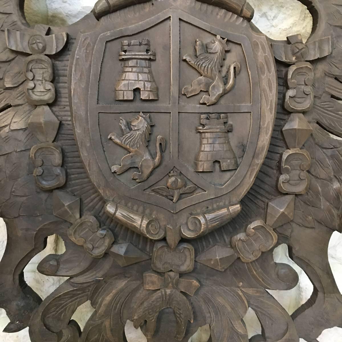 フランスアンティーク イーグル オブジェ 壁掛け 木製 ウッドオブジェ アンティーク家具 アンティーク ヨーロッパ 重厚_画像4