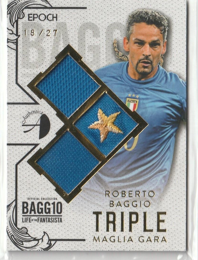 2016 Roberto Baggio バッジョ Epoch LIFE OF FANTASISTA パッチカード 星部分 #18/27 背番号シリアル!! イタリア代表 1of1_画像1