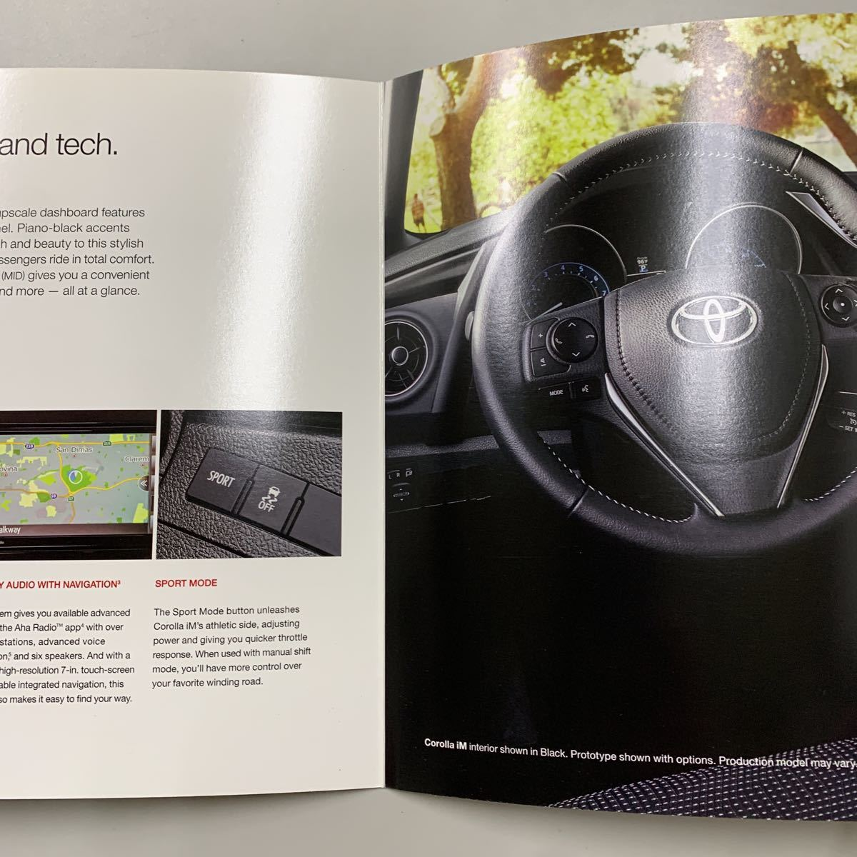 【送料無料】US TOYOTA COROLLA iM 2017年モデル 小カタログ アメリカ トヨタ カローラ 左ハンドル 海外 輸出 北米仕様 逆輸入 USDM 当時物_画像3