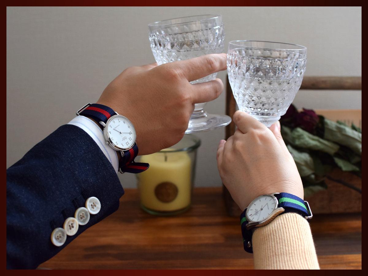 時計ベルト NATO ゴールドバックル ショートサイズ カーキグリーン 20mm 取付けマニュアル _画像10