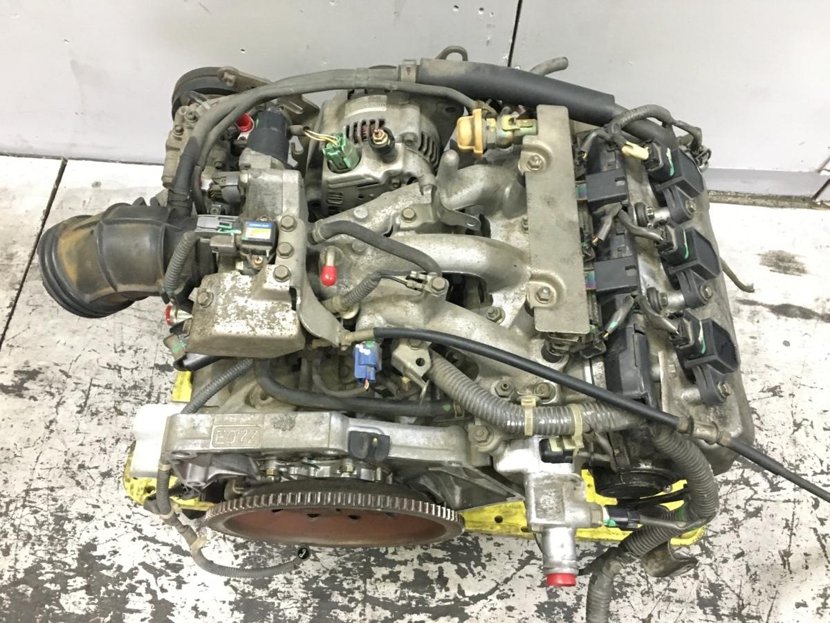 バモス HM1 エンジンASSY コンピューター付 E07Z-E ノンターボ 横置き ジャンク_画像5