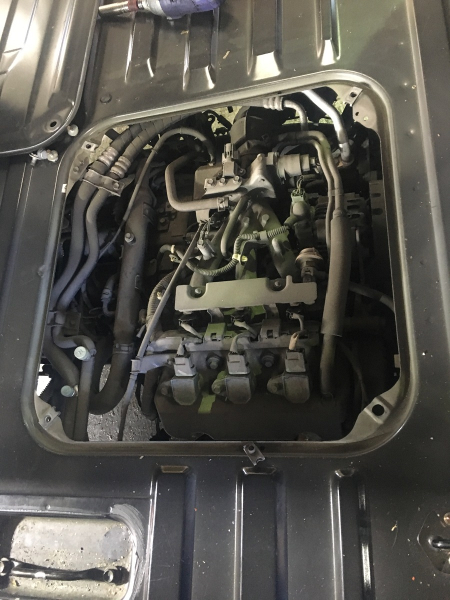 バモス HM1 エンジンASSY コンピューター付 E07Z-E ノンターボ 横置き ジャンク_画像9