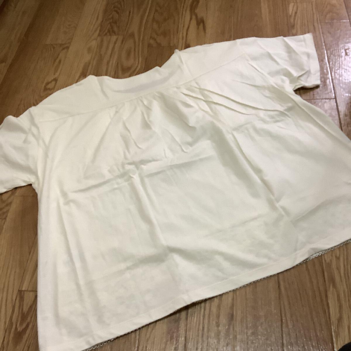 カットソー Tシャツ 裾レース スタジオクリップ リンネル好きの方 新品未使用