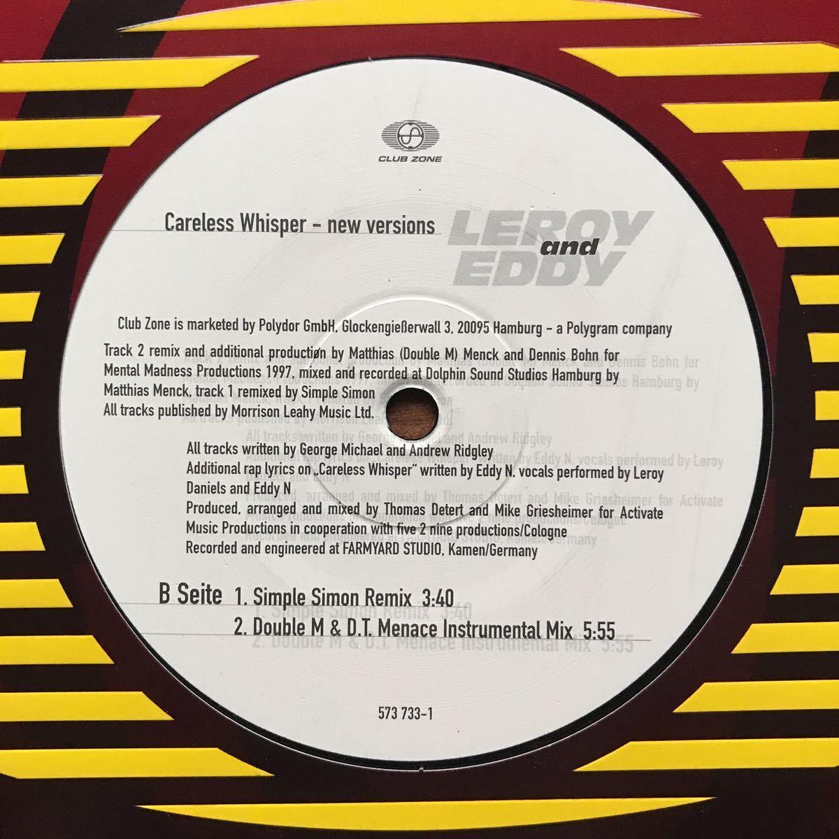 ●【eu-rap】Leroy and Eddy / Careless Whisper[12inch]オリジナル盤