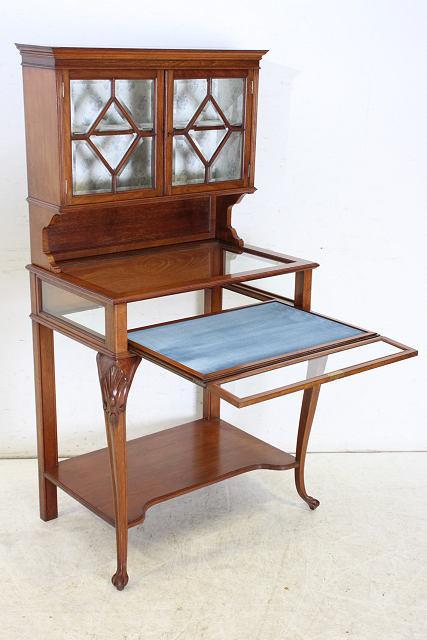 ショーケース 飾り棚 ce-82 1870年代 イギリス製 アンティーク ヴィクトリアン ウォルナット ショップショーケース キャビネット _画像9