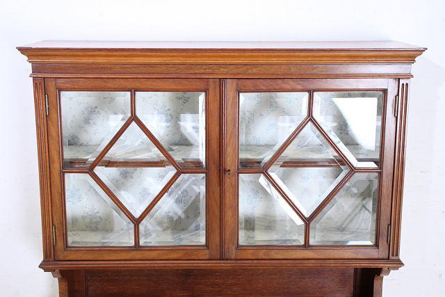 ショーケース 飾り棚 ce-82 1870年代 イギリス製 アンティーク ヴィクトリアン ウォルナット ショップショーケース キャビネット _画像4