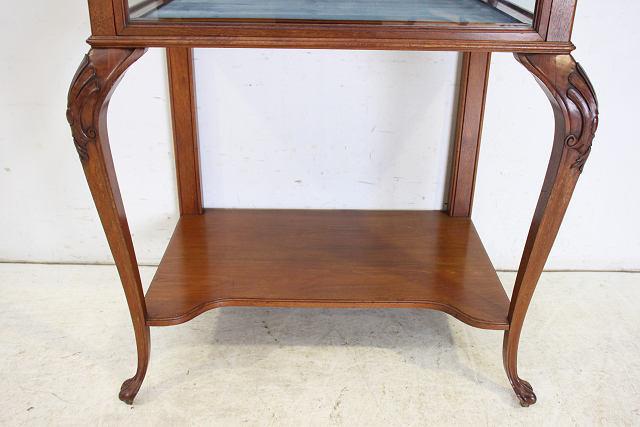 ショーケース 飾り棚 ce-82 1870年代 イギリス製 アンティーク ヴィクトリアン ウォルナット ショップショーケース キャビネット _画像6