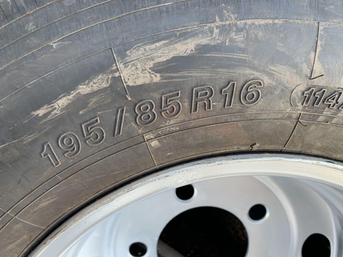いすゞ エルフ 195/85R16 114/112 L ヨコハマ IG91 2018年製 スタッドレス TK 16×5.5J 116.5-8TC TOPY製 深溝 6本値段_画像5