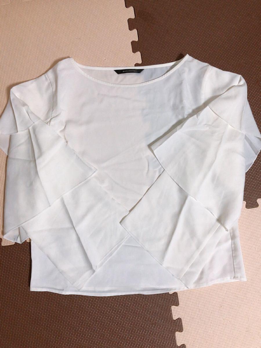 トップス 白 ブラウス 未使用 Lサイズ 長袖