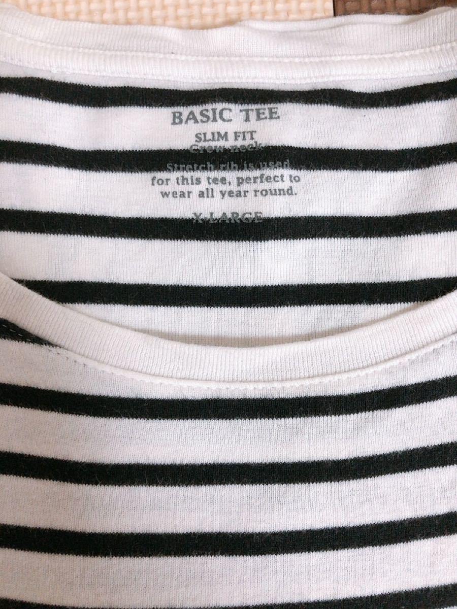 ボーダーカットソー トップス 長袖Tシャツ