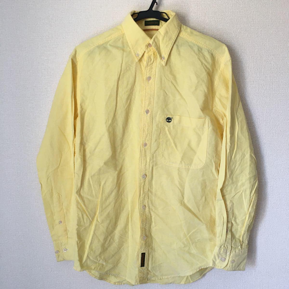 長袖シャツ ボタンダウンシャツ TIMBERLAND 黄色