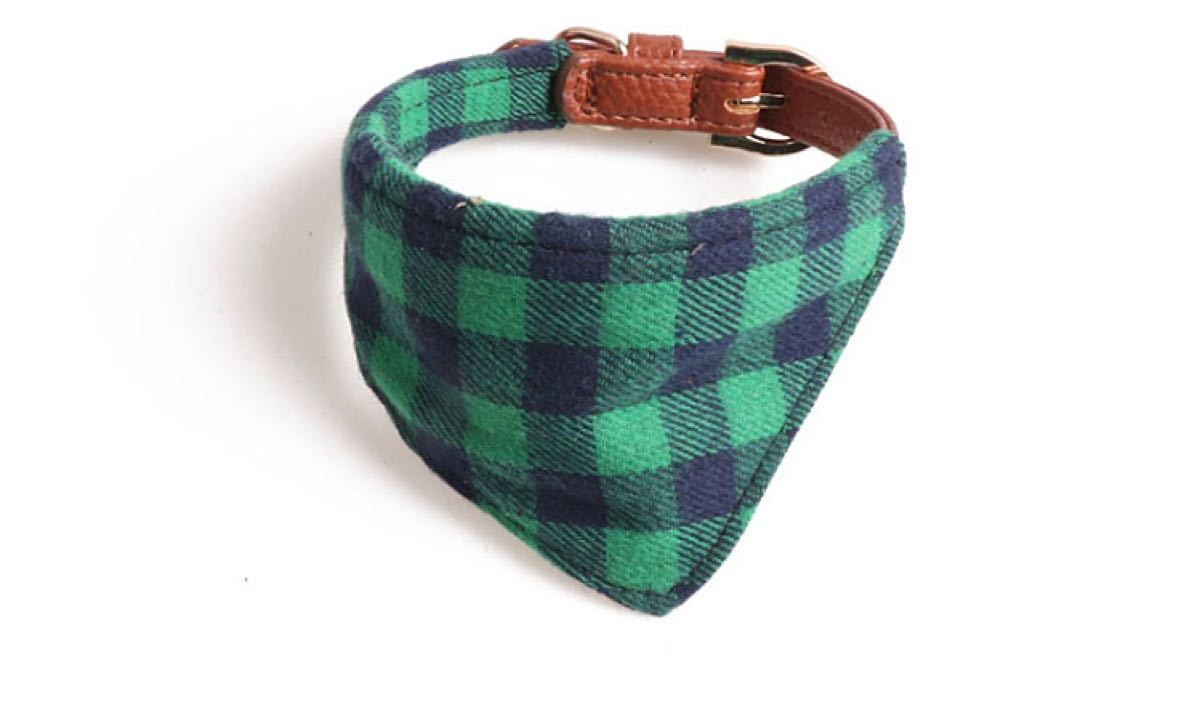 【ネコポス対応】チェック柄 スカーフ 猫&小型犬用  首輪