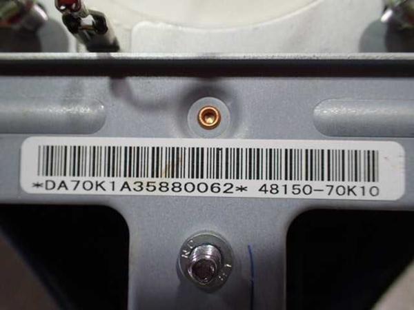 H21年 ワゴンRスティングレー MH23S 純正 エアーバックカバー エアバック 中古 即決_画像5