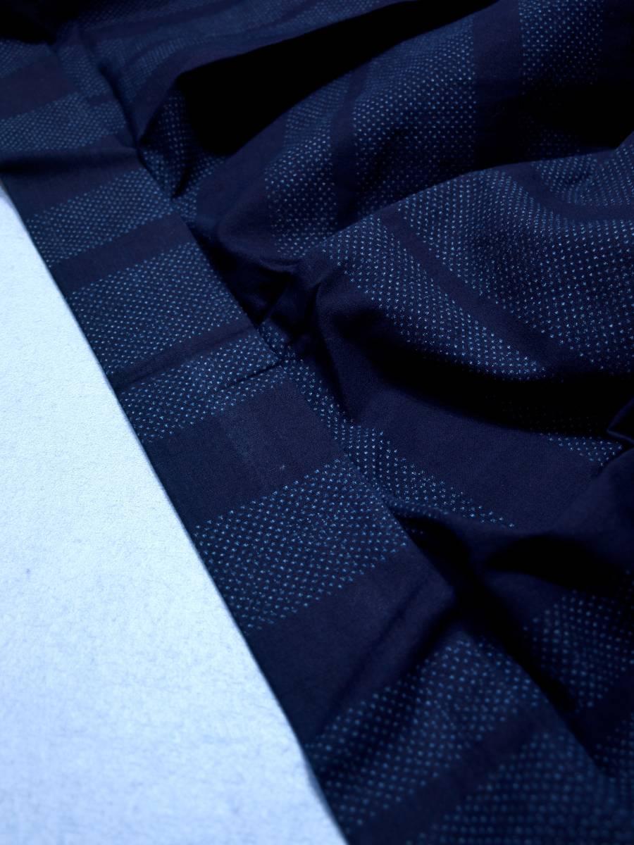 リサイクル着物 綿 単衣 蚊絣 横段 綿薩摩 リメイク用 素材用 普段着_画像5