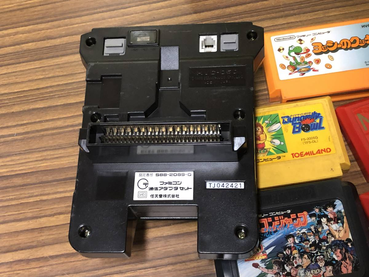 Lot of 7 Nintendo Famicom games consoles Disk system FAMILY BASIC HVC-007 任天堂 ファミコン ゲームソフト 他 4本 本体 まとめて_画像8