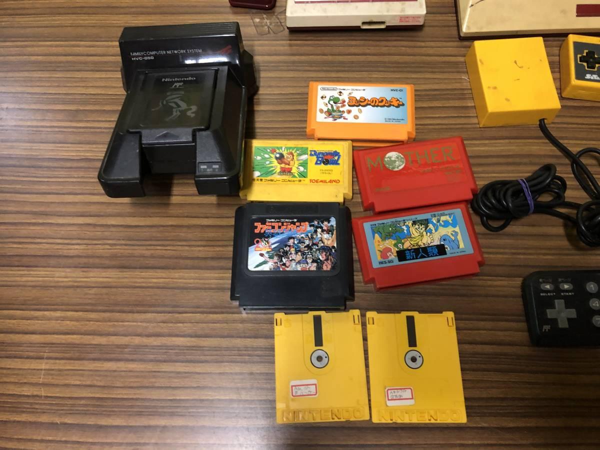 Lot of 7 Nintendo Famicom games consoles Disk system FAMILY BASIC HVC-007 任天堂 ファミコン ゲームソフト 他 4本 本体 まとめて_画像2