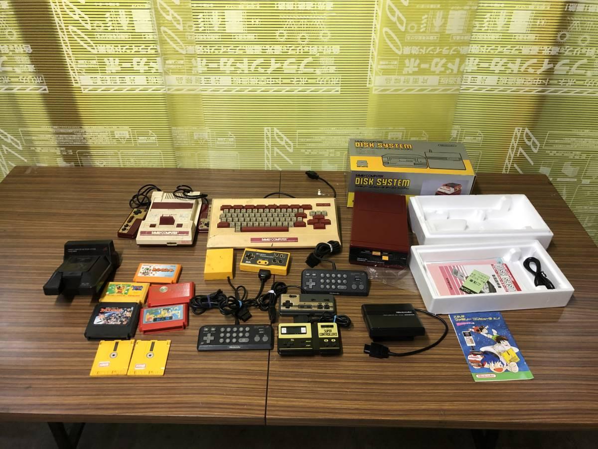 Lot of 7 Nintendo Famicom games consoles Disk system FAMILY BASIC HVC-007 任天堂 ファミコン ゲームソフト 他 4本 本体 まとめて_画像1