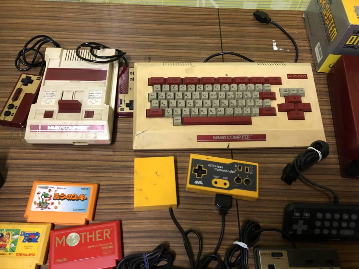Lot of 7 Nintendo Famicom games consoles Disk system FAMILY BASIC HVC-007 任天堂 ファミコン ゲームソフト 他 4本 本体 まとめて_画像3