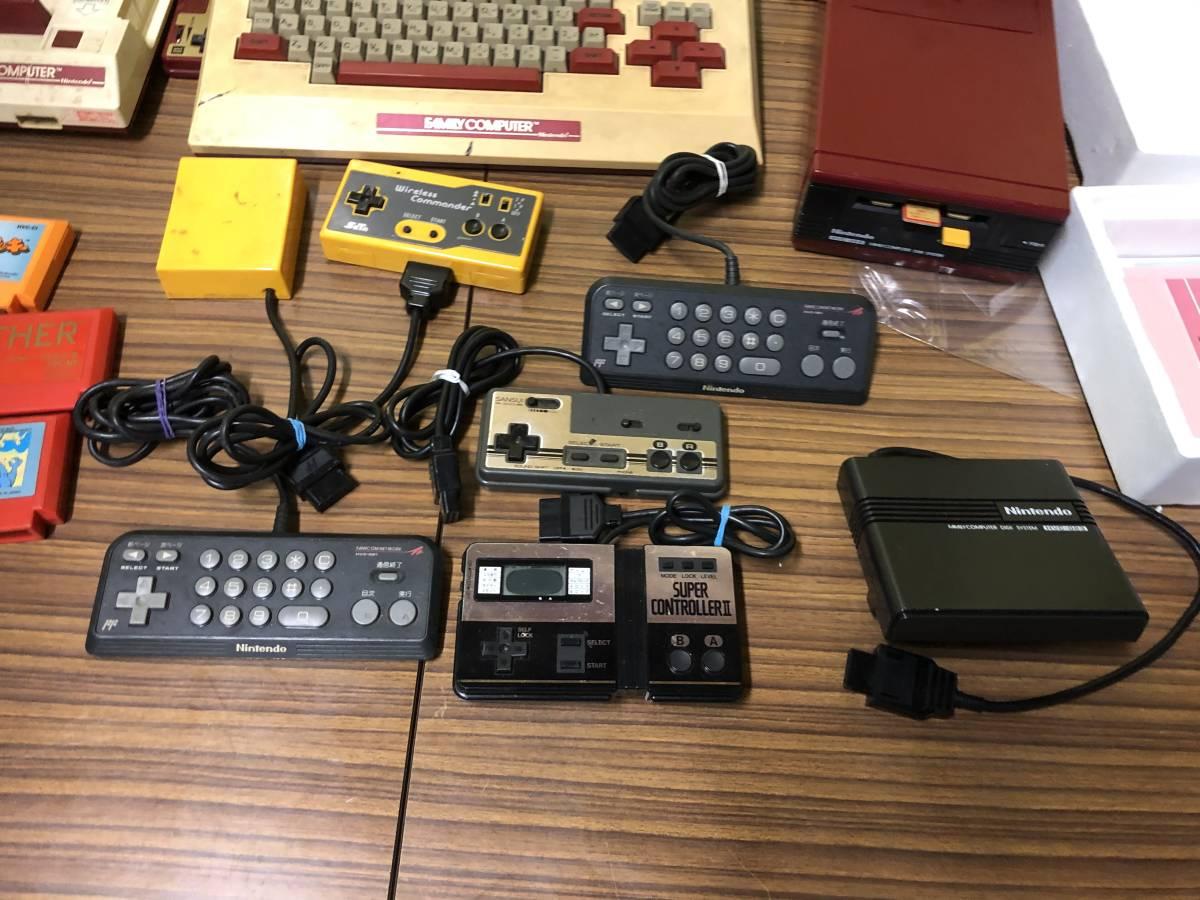 Lot of 7 Nintendo Famicom games consoles Disk system FAMILY BASIC HVC-007 任天堂 ファミコン ゲームソフト 他 4本 本体 まとめて_画像4