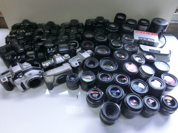 1F161EC フイルム一眼 AF レンズ MINOLTA SONY PENTAX CANON NIKON 用等 大量 まとめて ジャンク 消费税0円