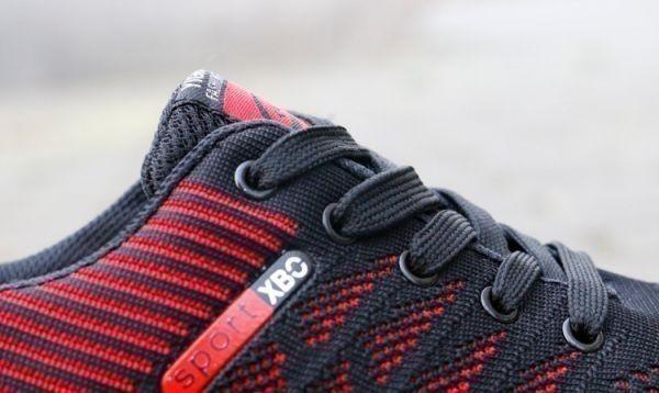 メンズ スニーカー ランニングシューズ フィットネス ウォーキング 通気性 スポーツ カジュアル 靴 メッシュ 【27cm】【赤】 ②_画像6